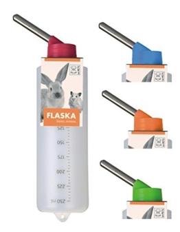 Kleintiertränke Nagertränke aus Kunststoff - FLASKA - 250 ml z.B. Meerschweinchen -
