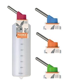 Kleintiertränke Nagertränke aus Kunststoff - FLASKA - 450 ml z.B. Chinchillas & Kaninchen -