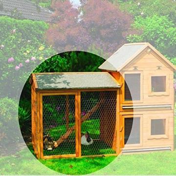 Kleintiervilla Maxi einzeln oder mit Auslauf Nagerstall Hasenstall, Ausführung:mit 2 Auslaufgehege -