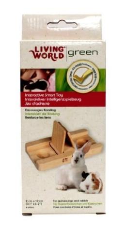 Living World Green interaktives Intelligenzspielzeug -Schiebespiel- für Meerschweinchen und Kaninchen -