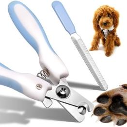 Magichome Krallenpflege Set Krallenschere für Hund Katze Kleintiere Krallenschneider Krallenzange Pfotenschere mit Sicherheits-Abstandhalter -