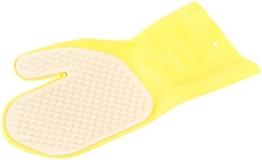 PEARL Katzenhandschuh: Handschuh mit Bürste für Tierfell-Reinigung, rechtshändig (Tierbürste) -