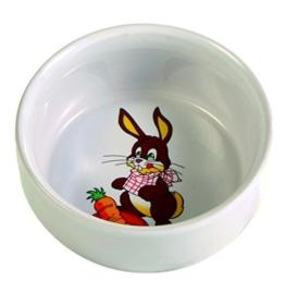 TRIXIE 6063 Kaninchennapf Keramik 11cm mit Motiv -
