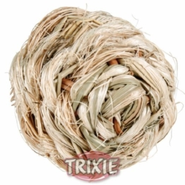 Trixie Gras Ball mit Glocke, 6cm -