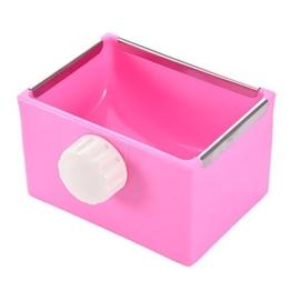 Yunt Näpfe Kleintier Feeder Kunststoff Wasser Futter Schüssel einsetzbar Fressnapf für Kaninchen/Meerschweinchen/Galesaur/Hamster -
