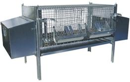 zoopiro–Käfig Stall für Kaninchen fattrici mit 2Nestern -