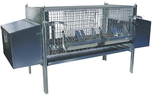 zoopiro k fig stall f r kaninchen fattrici mit 2 nestern haustierzubeh. Black Bedroom Furniture Sets. Home Design Ideas