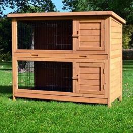 Zooprimus Kaninchenstall 05 Hasenkäfig - HOPPEL - Stall für Außenbereich (für Kleintiere: Hasen, Kaninchen, Meerschweinchen usw.) -