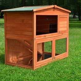 Zooprimus Kaninchenstall 21 Hasenkäfig - HASENHAUS-XL - Stall für Außenbereich (GRÖßE: (XL) | für Kleintiere: Hasen, Kaninchen, Meerschweinchen usw.) -