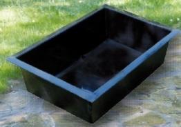 Heissner 49x 79x45cm vorgeformter rechteckig Water Garden–Schwarz -