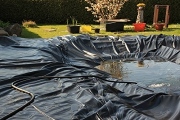 Teichfolie Gartenteichfolie 1,0mm schwarz Folie für den Gartenteich Teichbau verschiedene Abmaße … (1m lang, schwarz 2m breit) -