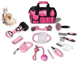 15 teiliges Hundepflegeset Tierpflegeset Fellpflege Krallenpflege Hundespielzeug - 1