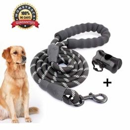 Anicoll 5 FT Starke Hundeleine mit Bequemen Gepolsterten Griff, Starke Reflexnähte der Trainingsleine für SicherheitNachts, eignet für Alle Größe Hunde - 1