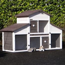 Animalhouseshop.de Kaninchenstall Annemieke mit Auslauf 175x70x110cm - 1