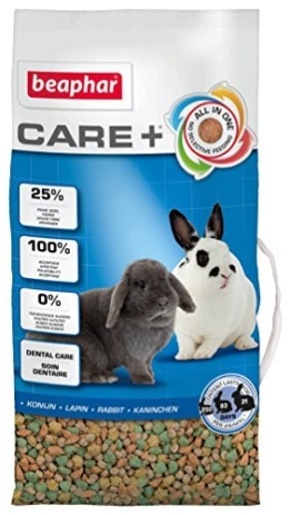 beaphar Care+ Kaninchen | Kaninchenfutter mit Alfalfa aus Bergwiesen | Fördert den gesunden Zahnabrieb | Niedriger Fettgehalt | 5 kg Beutel - 1