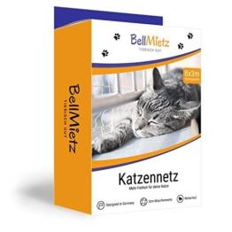 BellMietz Katzennetz für Balkon und Fenster | Extragroßes 8x3m Katzen-Schutznetz | Inkl. 25m Befestigungsseil | Balkonnetz mit Gratis Ebook - 1