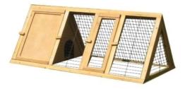 BUNNY BUSINESS Spitzer Laufstall mit Gehäuse, für Kaninchen°/°Meerschweinchen, 1,20°m - 1