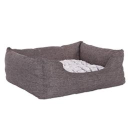 dibea DB00750, Hundebett mit wendbarem Hundekissen, 60 x 50 cm, grau (Farben/Größe wählbar) - 1