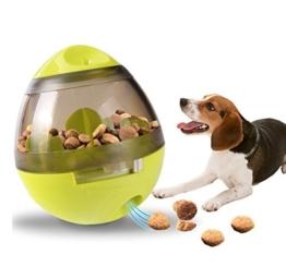 Ewolee Hundespielzeug Ball, Tumbler Spielzeug Haustierfutter Spielzeug Ball ungiftig Bite resistent Spielzeug Ball Intelligentere Interaktive IQ-Behandlung-Kugel Langlebiger Hundespielball - 1