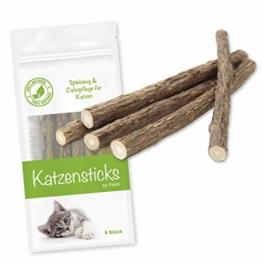 Forck Katzenminze Katzenspielzeug 5 Sticks, unsere Matatabi-Kausticks unterstützen die natürliche Zahnpflege und helfen bei Zahnstein & Mundgeruch - 1