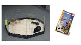 Freigehege mit Nylonboden Indoor Freilaufgehege Freilauf für Nager Kaninchen Meerschweinchen Welpen Welpengehege Laufstall Gehege Auslauf - 1