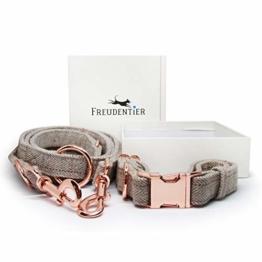 Freudentier Hundeleine (2m) + Hundehalsband im Set | Außergewöhnlich Elegant & Verstellbar - 1