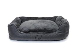 Happilax waschbares Hundebett mit wendbarem Kissen, Hundekörbchen für mittelgroße und kleine Hunde - 1