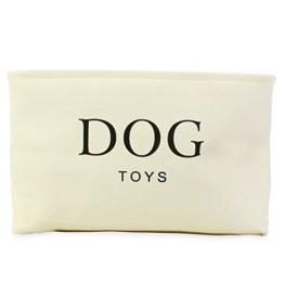 Hochwertiger Segeltuch-Korb für Hunde Spielzeug-Speicher - Sahnefarben-Kasten - 40cms x 30 cms x 25cms - 1