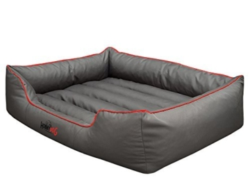 Hundebett Schlafplatz Hundekissen Comfort Große: XL Farbe: grau mit rot - 2