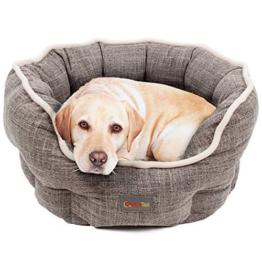 Hundebett von Quicktail, Formstabil aus Polyester, Rutschfester Hundekorb, Wendbare Polstermatte aus warmem Soft-Plüsch gegen Bodenkälte, Waschbares Hundekörbchen, Hundebett in drei Größen verfügbar - 1