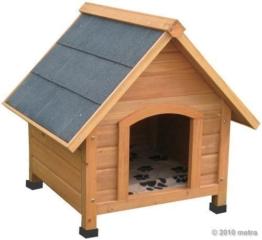 Hundehütte, Hundehaus, Massiv Holz, spitzdach - 1