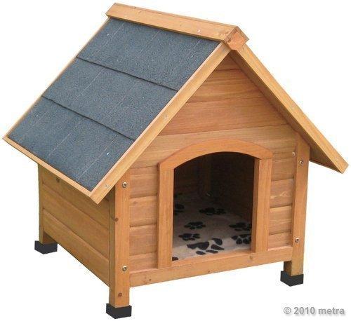 hundeh tte hundehaus massiv holz spitzdach. Black Bedroom Furniture Sets. Home Design Ideas