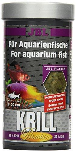 JBL Krill 40582 Premium Alleinfutter für alle Aquarienfische, Flocken 250 ml - 1