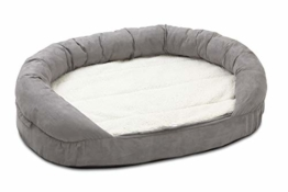 Karlie Hundebett Ortho Bed Oval, grau, 118 x 72 x 24 cm - 1