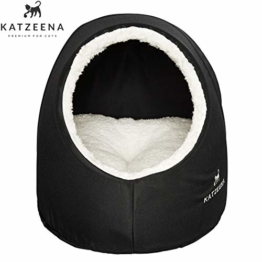 KATZEENA -  Kuschelhöhle | Premium Katzenbett | Waschbare Katzenhöhle | Kuschelhaus für Haustiere - 1