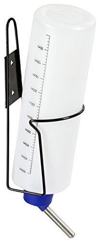 Kerbl 81766 Trinkflasche mit Halter aus Metall, 500 ml - 1