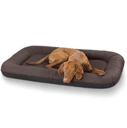 Knuffelwuff 12689 Leder Hundebett Jerry - Größe XXL, 120 x 100 cm, braun - 1
