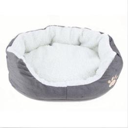 MFEIR Hundebett Katzenbett Baumwolle Pet Bett Kissen für Hunde Katzen Kleintiere,Grau,Klein - 1