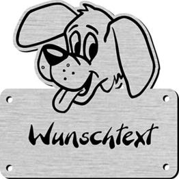 Namensschild mit Wunschtext und Motiv, Gravur für Hundehütte, Hundehaus - 1
