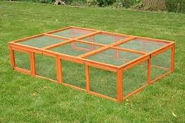 nanook Max - Freigehege Zum Anbau für Kaninchenställe, klappbares und verriegelbares Dach, Farbe: Natur - 1