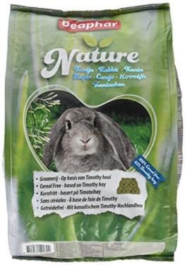 Nature Kaninchen | Getreidefreies Kaninchenfutter | Mit getrockneten Kräutern & kanadischem Timothy Heu | Ohne Konversierungsstoffe | 3 kg - 1