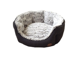 "Nobby 60513 Komfort Bett oval ""Cacho"", dunkelgrau - 1"