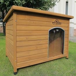 Pets Imperial® Haustiere Imperial® Extra Large Isolierter Norfolk Hölzerner Hundhütte mit Stützschienen und abnehmbarem Fußboden für einfache Reinigung - 1