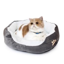 Saflyse Schöne Tierbett Hundebett Haustier Katzenbett Hundesofa Katzensofa (Grau) - 1