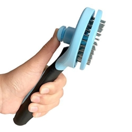 Selbst Reinigung Zupfbürste für Hunde und Katzen, PET Fell entfernt, Ausfallen Pflege Kamm für lange und dickes Haar - 1