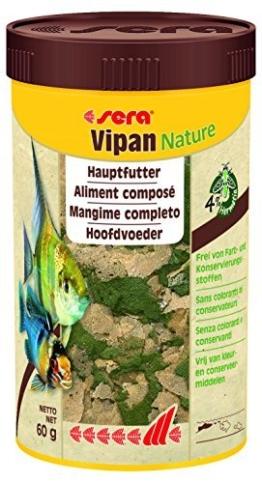 Sera Vipan Nature 250 ml das natürliche Hauptfutter ohne Farb- und Konservierungsstoffe, 80 g - 1