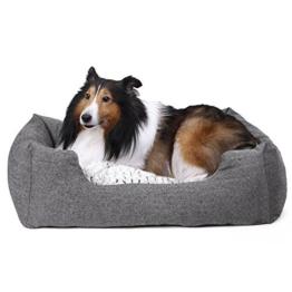 SONGMICS Hundebetten innenkissen Beidseitig Verwendbar mit unten einen Anti-Rutschboden M Außenmaße :80 x 60 x 26 cm PGW26G - 1