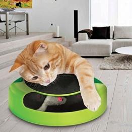 """Tech Traders®, bewegliches Katzenspielzeug """"Fang die Maus"""" aus Plüsch mit Kratzmatte für die Krallenpflege - 1"""