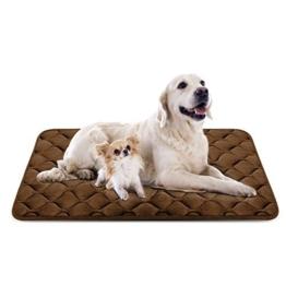 Weiche Hundebett Große Hunde Luxuriöse Hundedecken Waschbar Strapazierfähige Hundekissen Rutschfeste Hundematte Braun XL HeroDog - 1