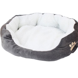 Westeng 1 Stück Ultra-weiche Baumwolle Welpen Nest Katzenbett, Kleine Haustierbett Teddy Kennel waschbar,50 x 40 x 15 cm - 1
